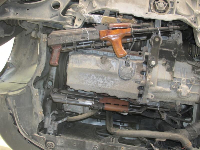 Waffenfund im PKW Schleierfahndung Rosenheim