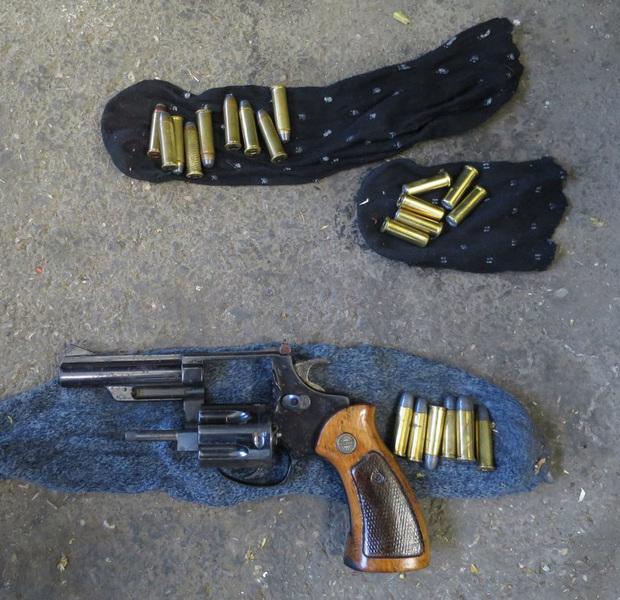 Scharfen Revolver sichergestellt