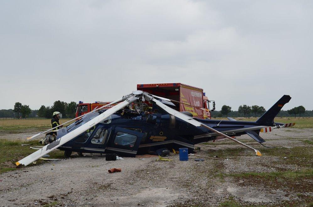 Hubschrauber Crash Oberschleißheim Quelle Foto Polizei München
