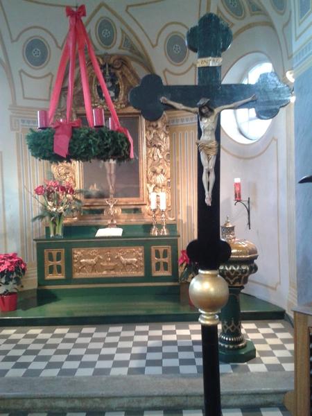 Kreuz aus Kirche gestohlen - Kochel am See Foto: Kripo Weilheim