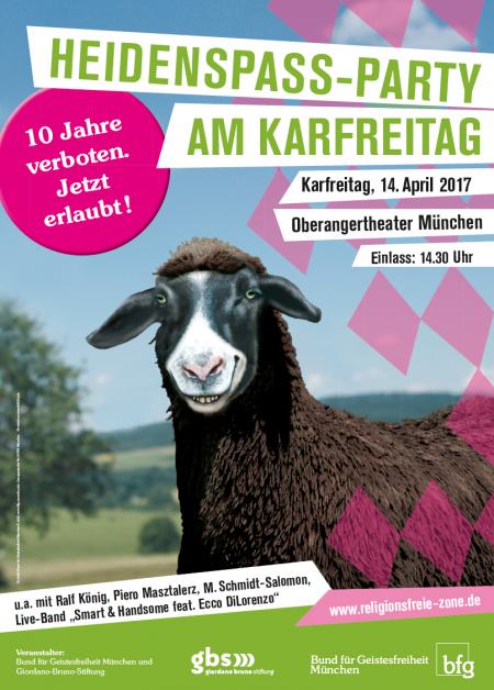 Heidenspass-Party Karfreitag - Bund für Geistesfreiheit gegen Tanzverbot