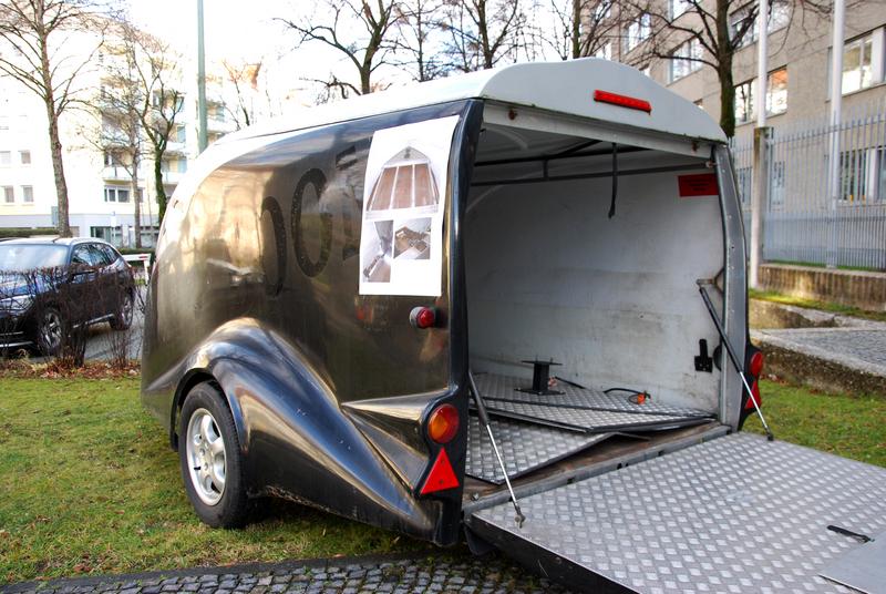 Anhänger mit eingebautem Drogenversteck - El Maestro Quelle Foto LKA Bayern