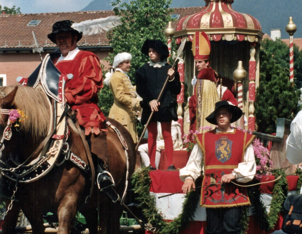 Großer historischer Festzug am 20. Mai 2018 in Garmisch-Partenkirchen