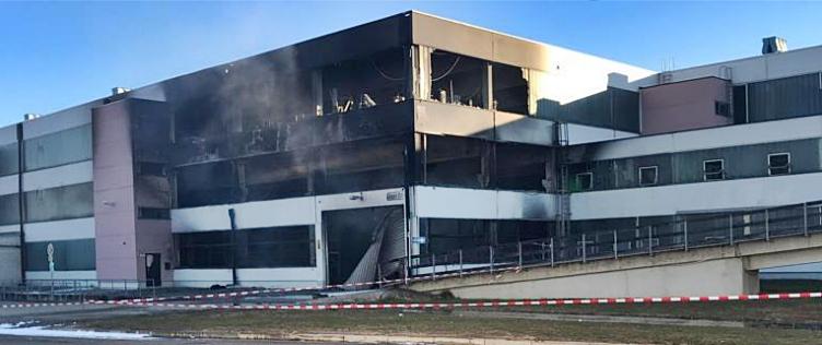 Großbrand in Depot vom Deutschen Museum in Ingolstadt, Foto Deutsches Museum München