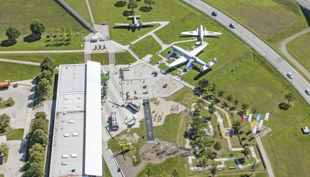 Luftbild Besucherpark Flughafen München Quelle Foto Flughafen München