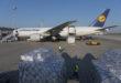Eine Boeing 777 der Lufthansa Cargo mit Atemschutzmasken aus Singapur landet auf dem Flughafen Muenchen / Flughafen Muenchen / Muenchen / 07.04.2020 Foto: Stephan Goerlich / FMG
